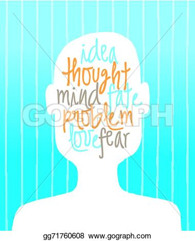 Illustration clipart philosophy Brain many mind Vector human