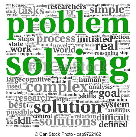 Word clipart problem Problem csp9722182 tag white on