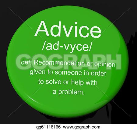 Illustration clipart problem definition  button gg61116166 Illustration Advice