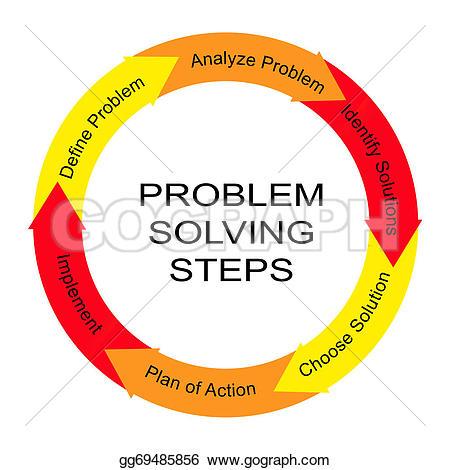 Illustration clipart problem definition Solving Problem gg69485856  steps