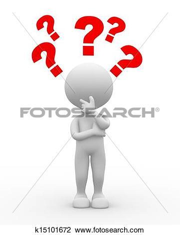 Illustration clipart question mark man Man Stock mark Illustration collection