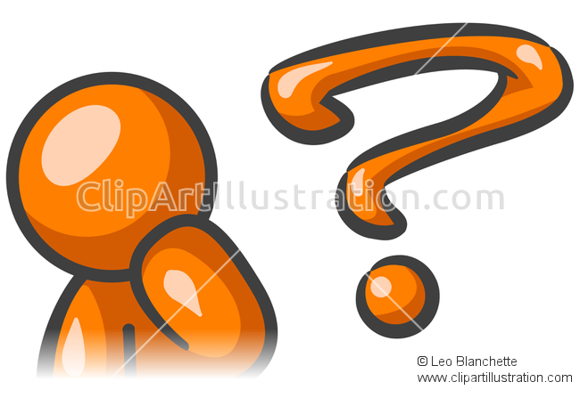 Illustration clipart question mark man Man in Inquiry ClipArt Man