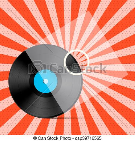 Illustration clipart record data Background with Vector Red on