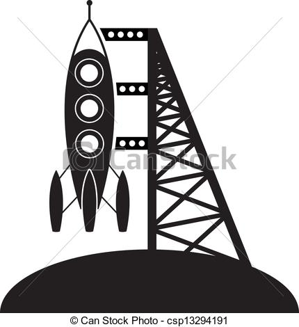 Illustration clipart rocket Vector pad rocket symbol csp13294191
