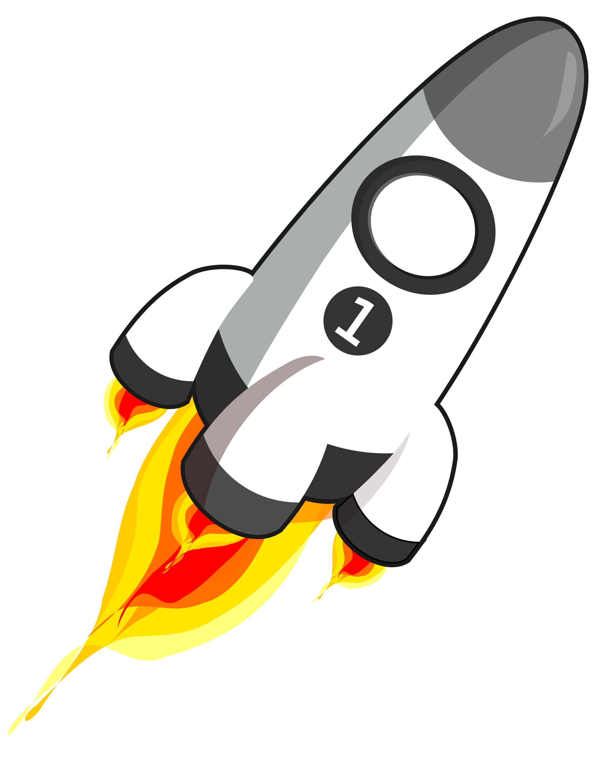 Rocket clipart transparent background #3