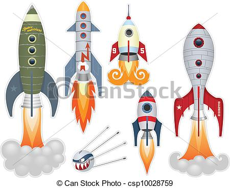 Illustration clipart rocket Csp10028759 csp10028759 collection) Rocket (stickers