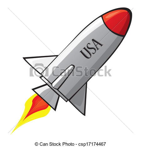 Missile clipart rocketship Ship space retro in ship