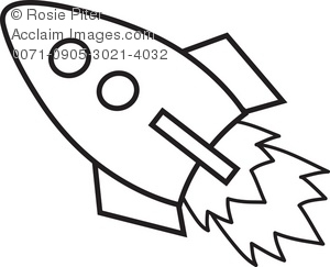 Drawn spaceship clipart A of Illustration Rocket Clipart