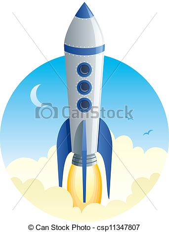 Rocket clipart takeoff #4