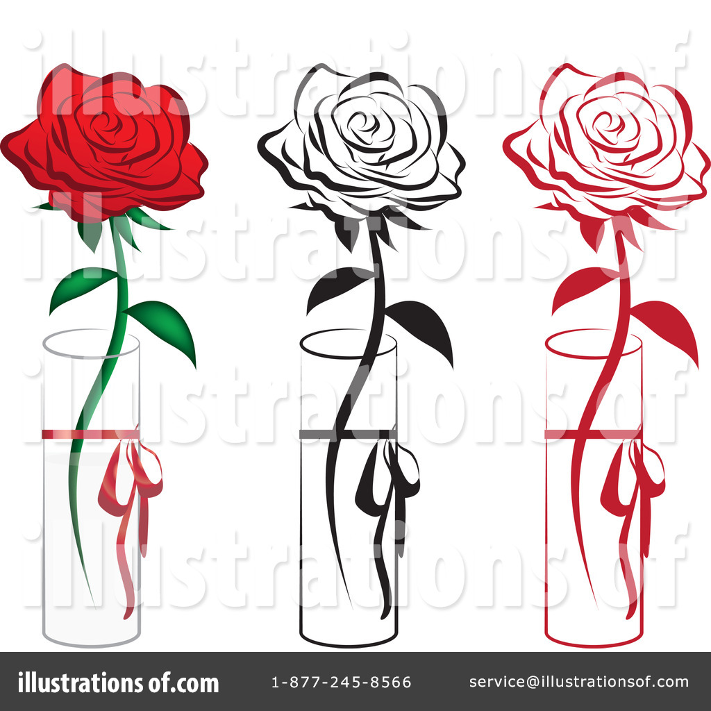 Illustration clipart rose #1079792 Royalty by (RF) by