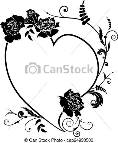 Illustration clipart rose Clipart Vector frame and of