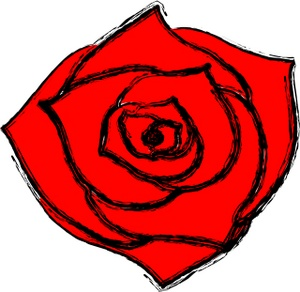 Illustration clipart rose Illustration Red Rose A Red