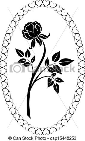 White Rose clipart flower drawing #13