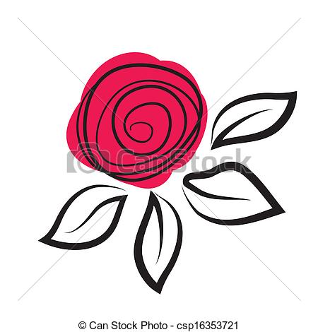Illustration clipart rose Of Abstract flower Abstract