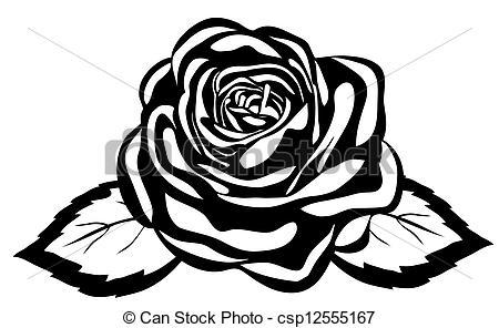 Illustration clipart rose Close rose Close white Vector