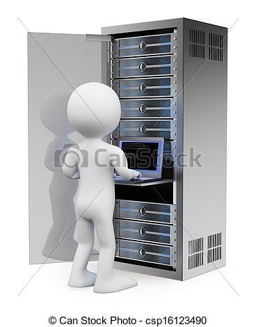 Illustration clipart server Engineer room in Engineer 3D