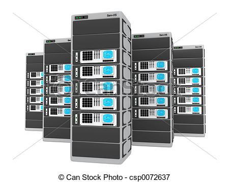 Illustration clipart server 3d of servers EPS csp0072637