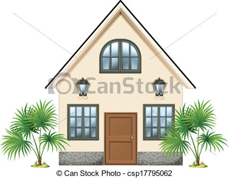 Illustration clipart simple house Simple simple a house csp17795062