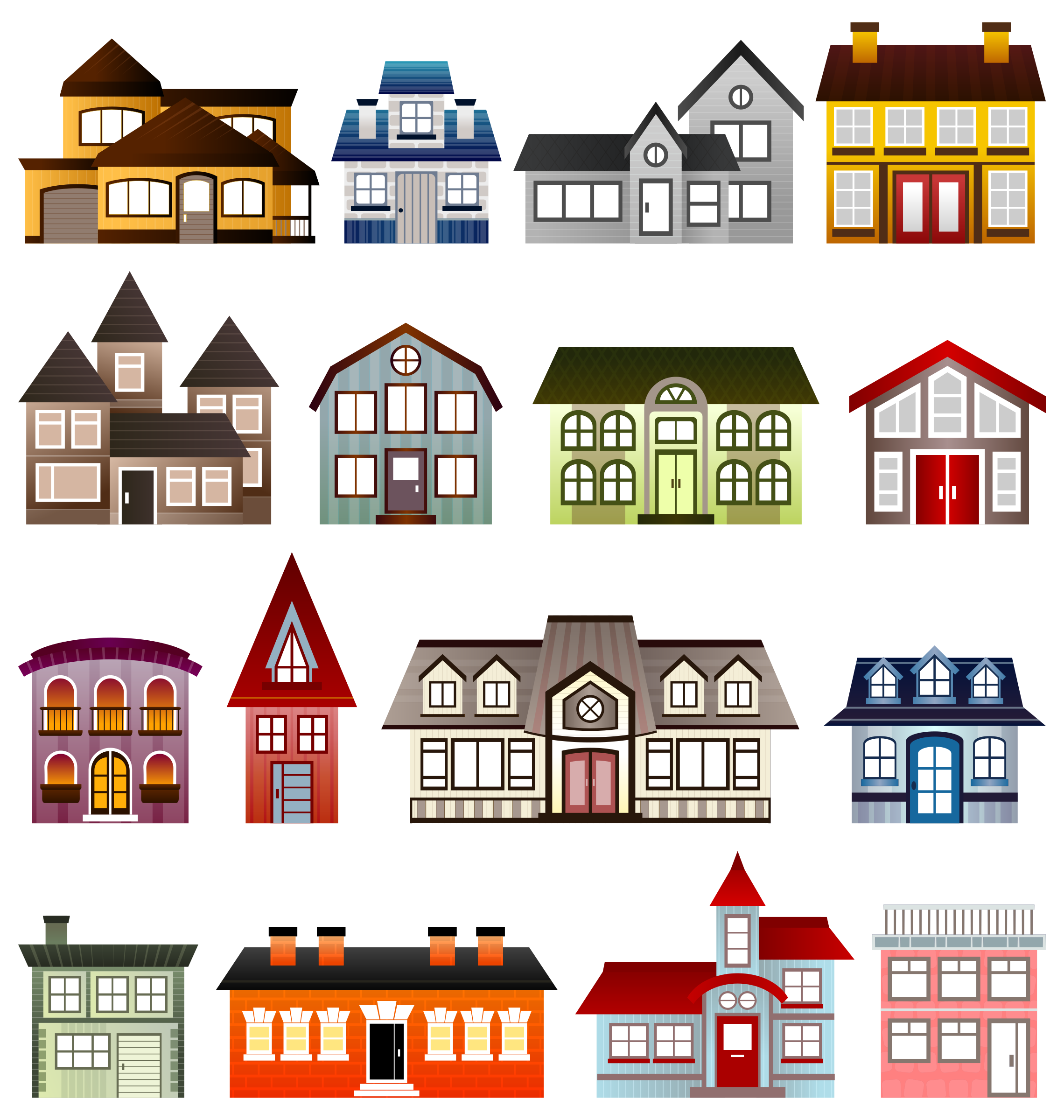 Mansion clipart simple house front Clipart Houses Simple Houses Simple