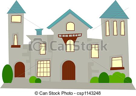 Illustration clipart simple house Illustration Stock mansion simple Stock