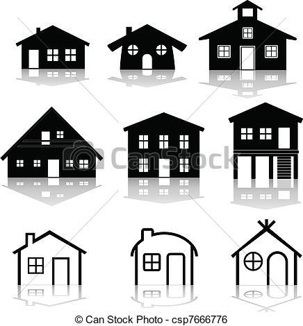 Illustration clipart simple house Simple  illustrations house of