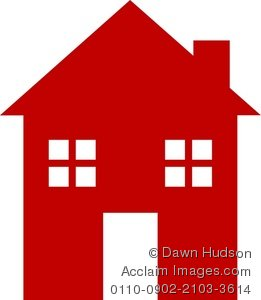 Illustration clipart simple house House Illustration Style a of