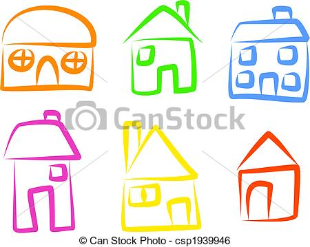 Illustration clipart simple house Icons Illustration house  icons