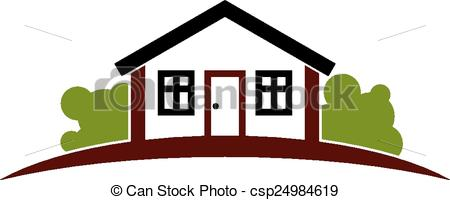 Illustration clipart simple house Horizon simple with  line