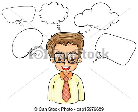 Illustration clipart smart man Smart empty with Vector of
