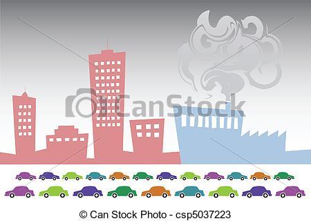 Illustration clipart smog Illustration City csp5037223 City csp5037223