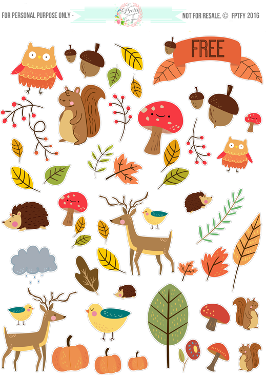 Illustration clipart sticker Things Clip Autumn Critter Stickers