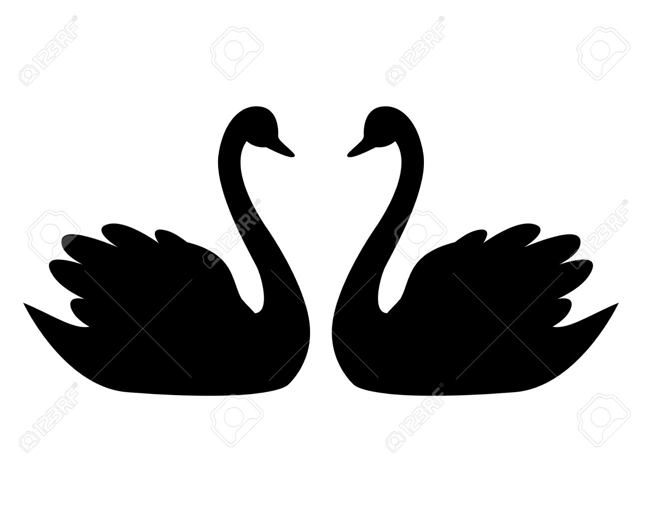Black Swan clipart animal Clip Swan 54 Top Swan