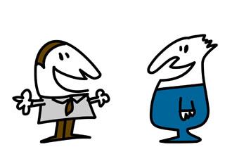 Illustration clipart talk partner Peyronie's talking men Coping together