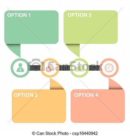 Illustration clipart text box Line text strategy diagram box