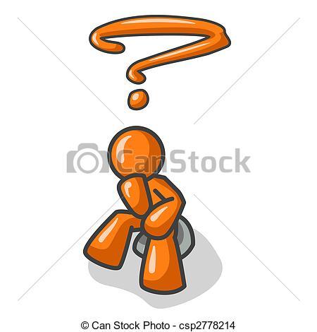 Illustration clipart thinker  that rock Orange familiar