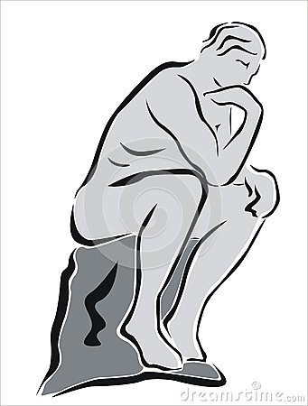 Illustration clipart thinker Clipart Statue Statue Download Thinking