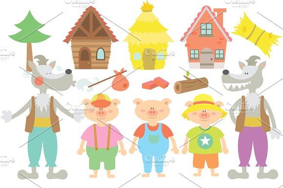 Illustration clipart three The Creative Pigs Illustrations on