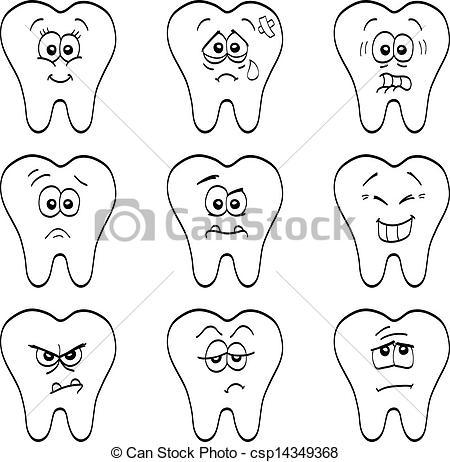 Illustration clipart tooth  different illustration cartoon Clip