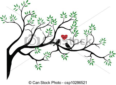 Illustration clipart tree bird silhouette Tree silhouette csp10286521 vector with