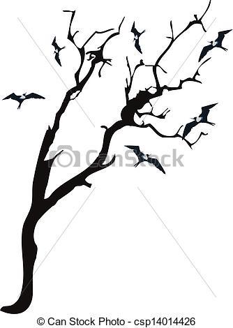 Illustration clipart tree bird silhouette Tree with csp14014426 Tree bird