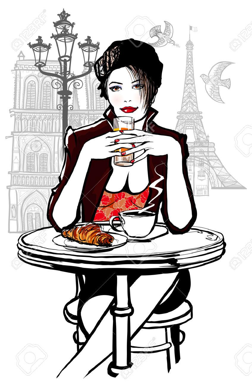 Illustration clipart une Le Paris Le Femme Hôtel