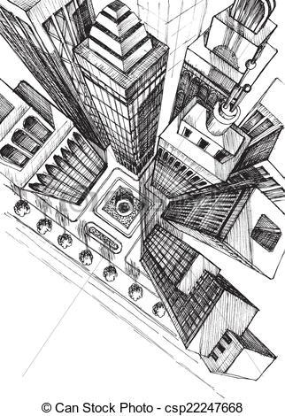 Illustration clipart une City Art view view Clip