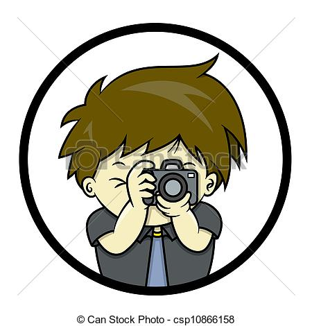 Illustration clipart une Picture taking SLR is is