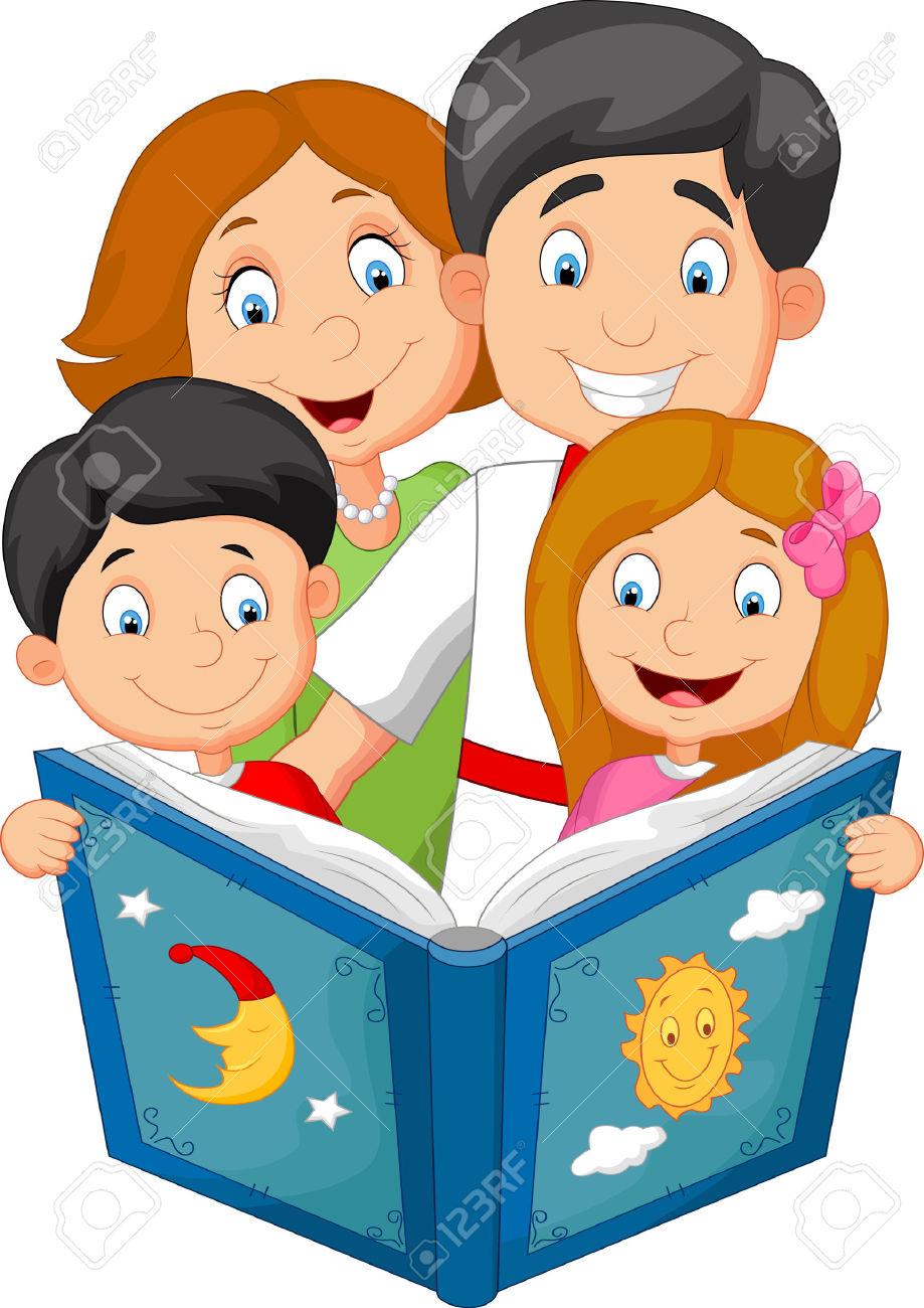 Illustration clipart une Histoire Cartoon Une Clipart Famille