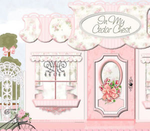 Illustration clipart vintage chic fashion boutique Listing Ebay Chic Victorian Pink