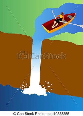 Illustration clipart waterfall Over a  csp10338355 row