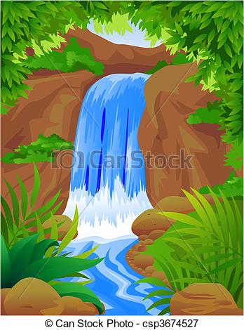Illustration clipart waterfall Vector fall Vectors waterfall fall
