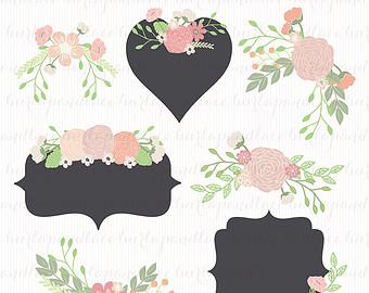 Illustration clipart wedding flower Art Floral Wreath Wedding Clip