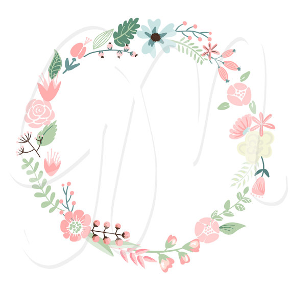 Wreath clipart digital Clip clipart Digital  Wedding