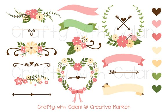Illustration clipart wedding flower Market Creative Pink Clipart Flower